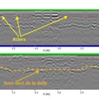Coupe radar : Détection et mesure d'enrobage des aciers