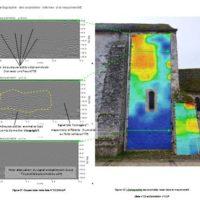 Cartographie radar : Exemple de relevé d'anomalie de la maçonnerie