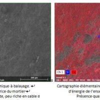 Analyse matériaux : Exemple de résultats de diffraction au rayons X sur mortiers