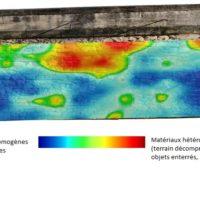 Cartographie des anomalies de maçonnerie entre 5 et 40 cm de profondeur